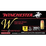 Winchester Train & Defend 380 Auto 95 Grain FMJ – 50 Rounds