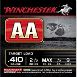 "Winchester AA-HS Target 410 Bore 2-1/2"" #9 – 250 Rounds"