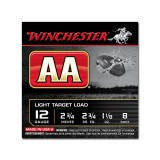 "Winchester AA Light Target 12 Gauge 2-3/4"" 1-1/8 oz. #8 - 25 Rounds"