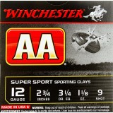 """Winchester AA Sporting Clay 12 Gauge 2-3/4"""" 1-1/8 oz. #9 – 250 Rounds"""