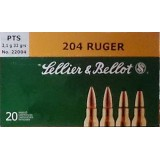 Sellier & Bellot 204 Ruger 32 Grain PTS Ballistic Tip – 20 Rounds
