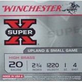 "Winchester Super-X 20 Gauge 2-3/4"" 1 oz. #4 Shot - 250 Rounds"