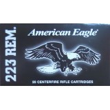 Federal American Eagle 223 Rem 55 Grain FMJ - 20 Rounds