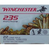 Winchester 22 LR 36 Grain CPHP – 235 Rounds