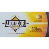 Armscor 308 147 Grain FMJ – 20 Rounds