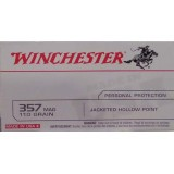 Winchester 357 Mag 110 Grain JHP - 50 Rounds