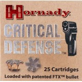 Hornady 380 ACP 90 Grain Critical Defense FTX - 25 Rounds