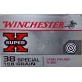 Winchester Super-X 38 Special 158 Grain LRN – 50 Rounds