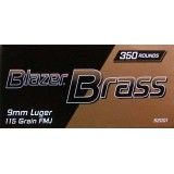 Blazer Brass Value Pack 9mm 115 Grain FMJ - 1050 Rounds