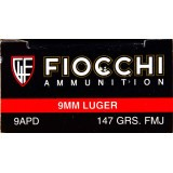 Fiocchi 9mm 147 Grain FMJ - 50 Rounds