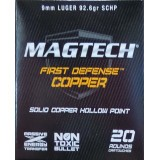 Magtech First Defense 9mm 92.6 Grain SCHP - 20 Rounds