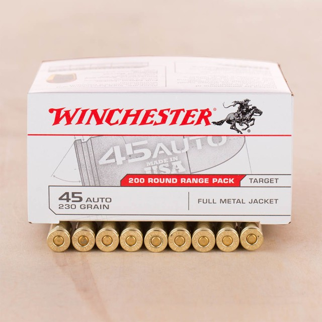 Image of Winchester Range Pack 45 ACP 230 Grain FMJ – 600 Rounds