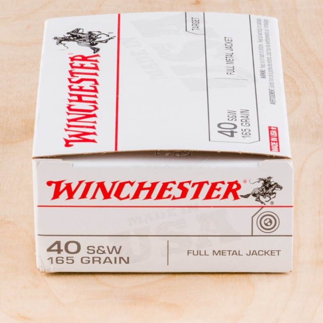 Image of Winchester USA 40 S&W 165 Grain FMJ – 500 Rounds