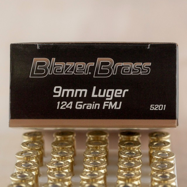 Image of Blazer Brass 9mm 124 Grain FMJ – 1000 Rounds