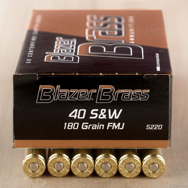 Image of Blazer Brass 40 S&W 180 Grain FMJ - 1000 Rounds