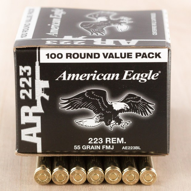 Image of Federal American Eagle 223 Rem 55 Grain FMJBT – 500 Rounds
