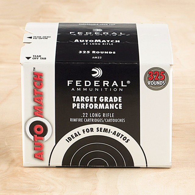 Image of Federal AutoMatch Target Grade 22 LR 40 Grain LRN – 3250 Rounds