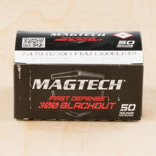 Image of Magtech First Defense 300 AAC Blackout 123 Grain FMJ – 500 Rounds