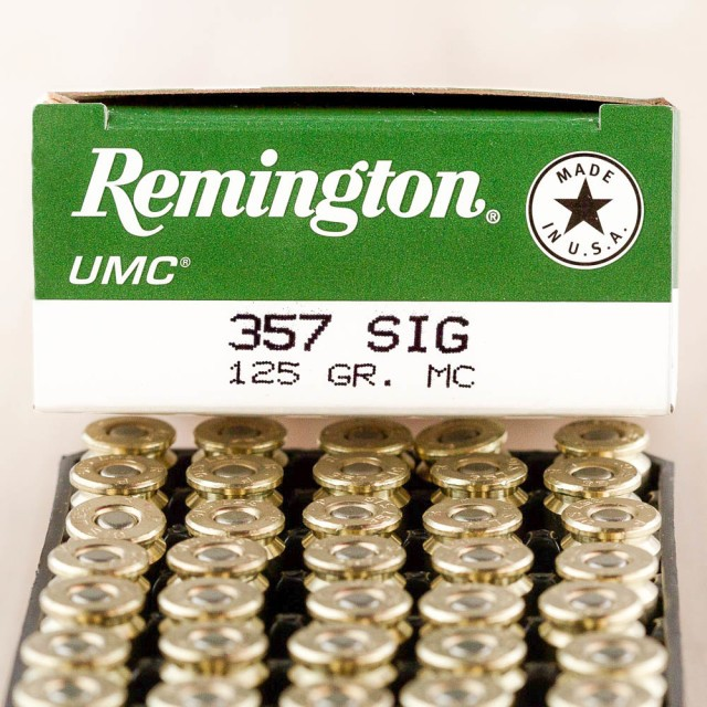 Image of Remington UMC 357 SIG 125 Grain MC - 500 Rounds