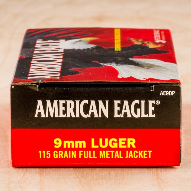 Image of Federal American Eagle 9mm 115 Grain FMJ – 1000 Rounds