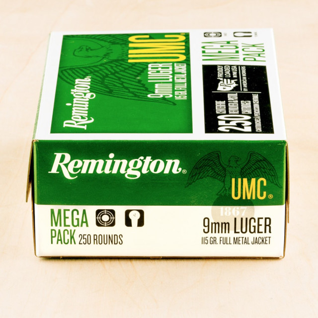 Image of Remington UMC 9mm 115 Grain MC - 1000 Rounds
