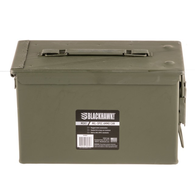 Image of Mil-Spec Ammo Can - 50 Cal M2A1 - Green - 1