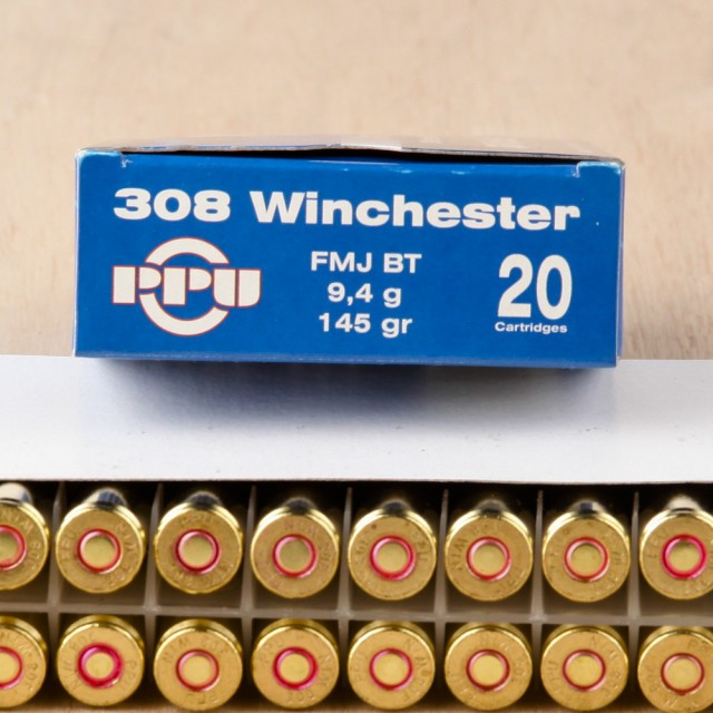 Image of Prvi Partizan 308 Win 145 Grain FMJBT - 20 Rounds