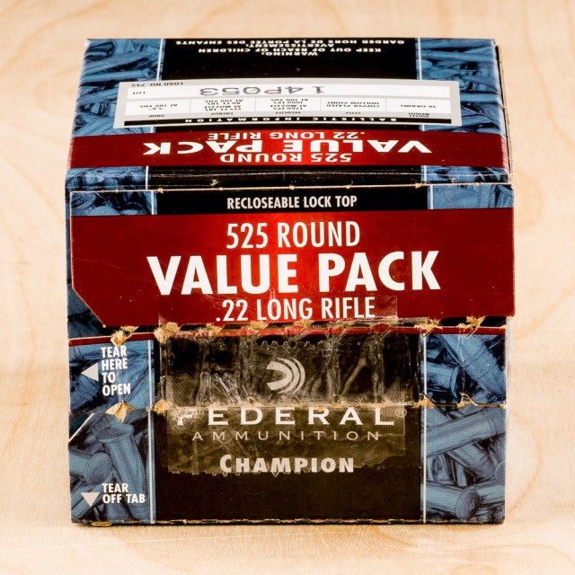 Image of Federal Champion 22 LR 36 Grain CPHP - 5250 Rounds