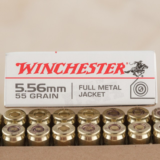 Image of Winchester 5.56x45mm 55 Grain FMJ – 1000 Rounds