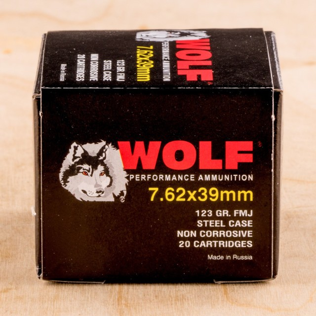 Image of Wolf 7.62X39 123 Grain FMJ - 1000 Rounds