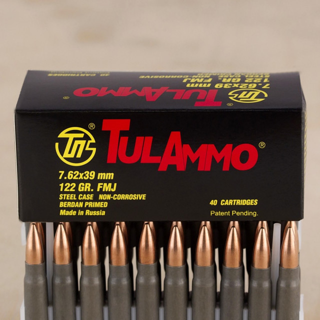 Image of Tula 7.62x39mm 122 Grain FMJ – 1000 Rounds