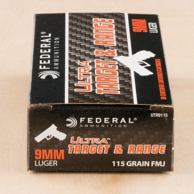 Image of Federal Ultra 9mm 115 Grain FMJ - 1000 Rounds
