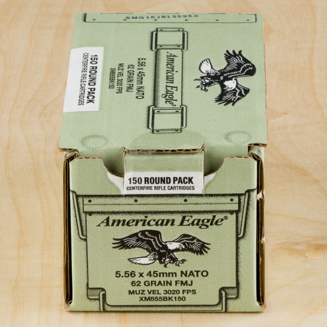 Image of Federal American Eagle 5.56x45mm 62 Grain FMJ XM855 – 600 Rounds Loose