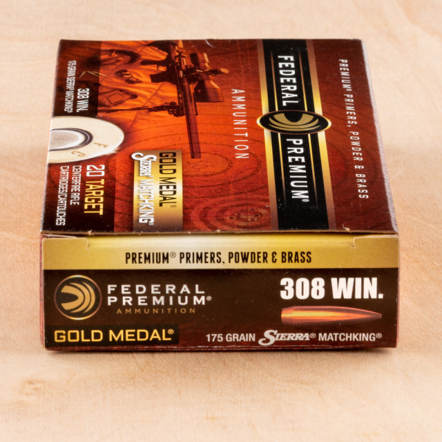 Image of Federal Gold Medal 308 Winchester 175 Grain Sierra MatchKing HP-BT – 200 Rounds