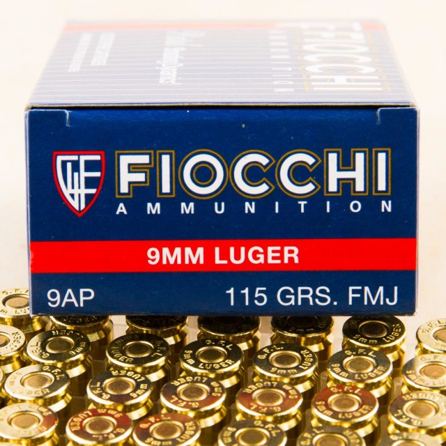 Image of Fiocchi 9mm 115 Grain FMJ – 1000 Rounds