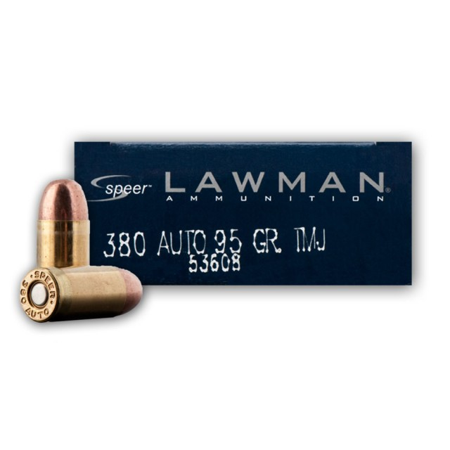 Image of Speer Lawman 380 Auto 95 Grain TMJ - 1000 Rounds