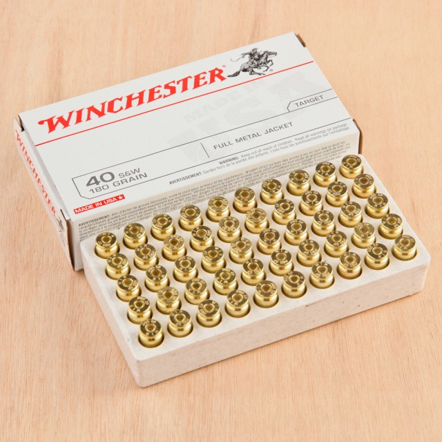 Image of Winchester USA 40 S&W 180 Grain FMJ - 500 Rounds